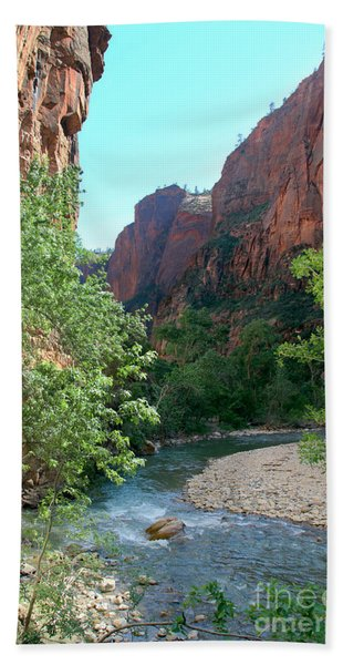 Beach Towel featuring the photograph Virgin River Rapids by Jemmy Archer