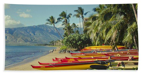 Kenolio Beach Sugar Beach Kihei Maui Hawaii  Beach Towel