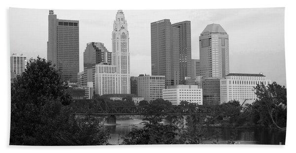 Downtown Skyline Of Columbus Ohio Beach Towel
