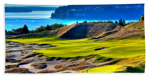 #14 At Chambers Bay Golf Course - Location Of The 2015 U.s. Open Tournament Beach Towel