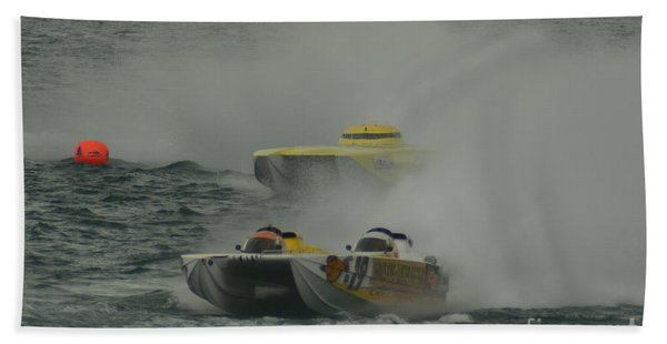 Port Huron Sarnia International Offshore Powerboat Race Beach Towel