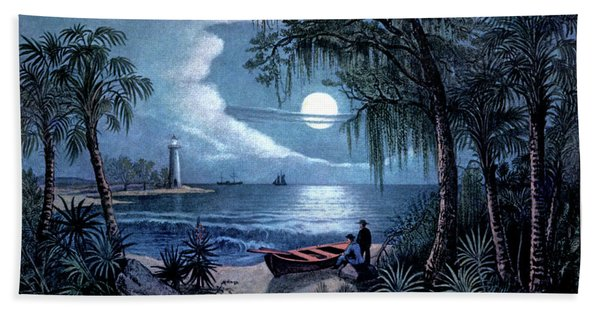 1850s The Florida Coast - Currier & Beach Towel