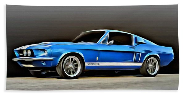 1967 Shelby Mustang Gt500 Beach Towel