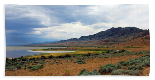 Beach Towel featuring the photograph Antelope Island by Jemmy Archer