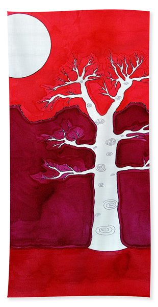Canyon Tree Original Painting Beach Sheet