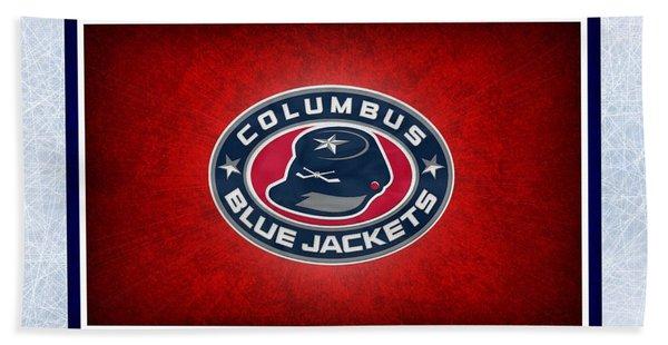 Columbus Blue Jackets Beach Towel