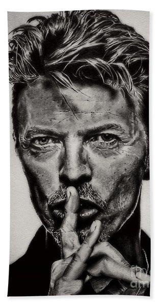 David Bowie - Pencil Abstract Beach Towel