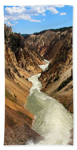 Beach Towel featuring the photograph Grand Canyon Of Yellowstone by Jemmy Archer