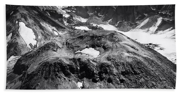 Beach Towel featuring the photograph Mt St. Helen's Crater by David Millenheft