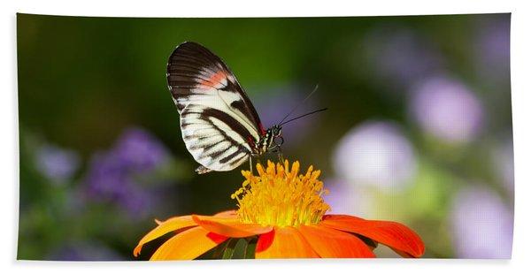 Piano Key Butterfly Beach Towel
