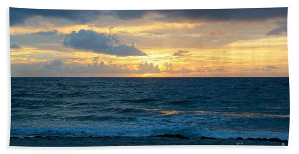 Sunrise In Deerfield Beach Beach Towel