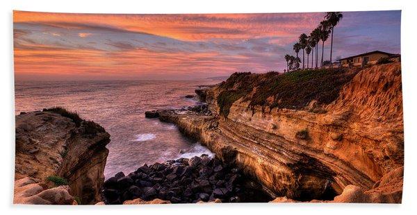 Sunset Cliffs Beach Towel