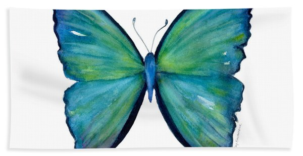 21 Blue Aega Butterfly Beach Towel