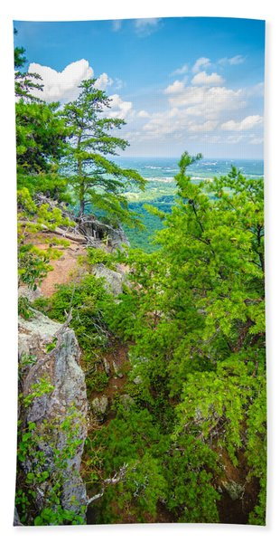 Beautiful Aerial Landscape Views From Crowders Mountain North Ca Beach Towel