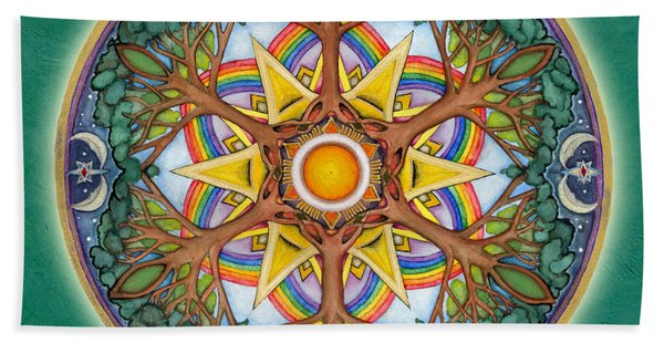 Heaven And Earth Mandala Beach Towel