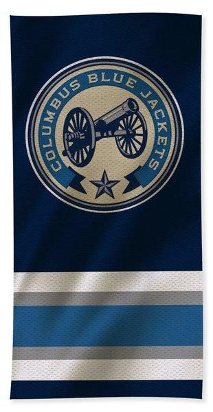 Columbus Blue Jackets Uniform Beach Towel