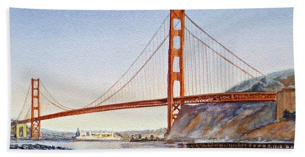 Golden Gate Bridge San Francisco Beach Sheet