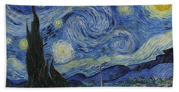 The Starry Night Beach Towel