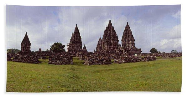 9th Century Hindu Temple Prambanan Beach Towel