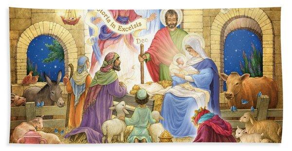 A Glorious Nativity Beach Sheet