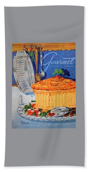 A Gourmet Cover Of Pate En Croute Beach Towel