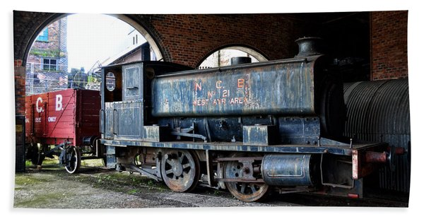 A Locomotive At The Colliery Beach Towel