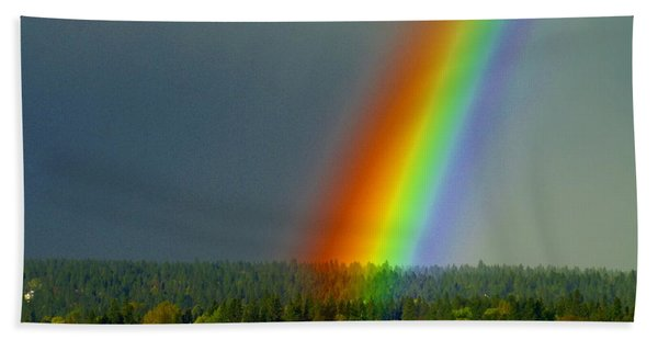 A Rainbow Blessing Spokane Beach Towel