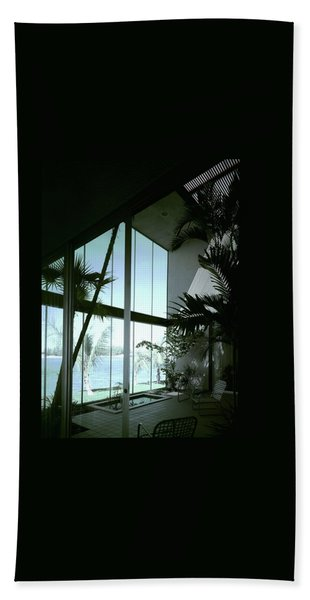 A Screened Patio Beach Towel