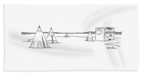Teepees And Pencil Sharpener Beach Towel