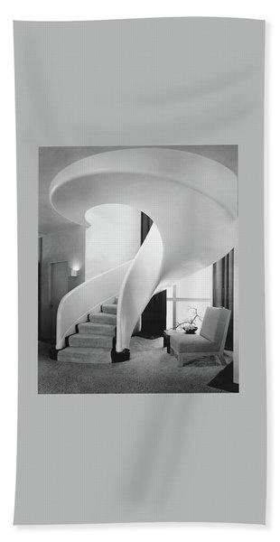 A Spiral Staircase Beach Towel