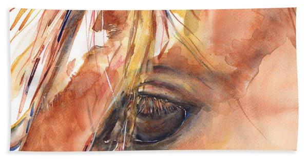 Horse Eye Painting A Wink Of The Eye Beach Towel