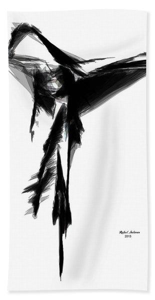 Abstract Flamenco Beach Towel