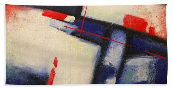 Abstract Red Blue Beach Sheet