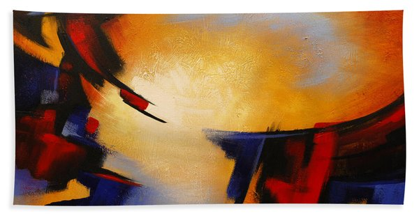 Abstract Red Blue Yellow Beach Sheet