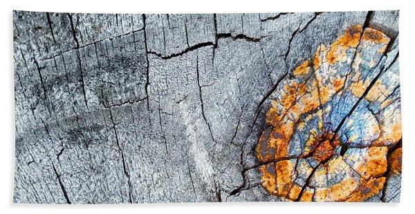 Abstract Woodgrain Upclose 6 Beach Sheet