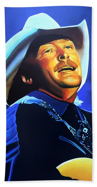 Alan Jackson Painting Beach Towel