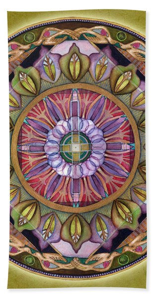 All Is Well Mandala Beach Towel