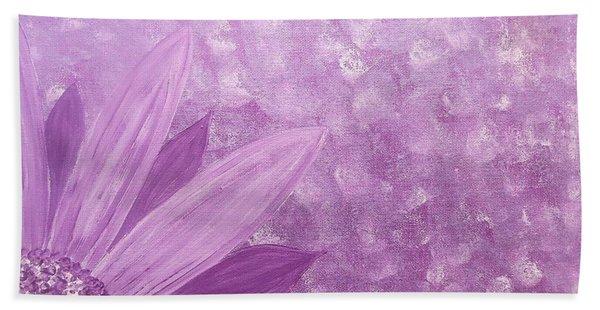All Purple Flower Beach Sheet