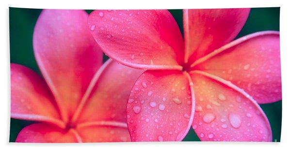Aloha Hawaii Kalama O Nei Pink Tropical Plumeria Beach Towel