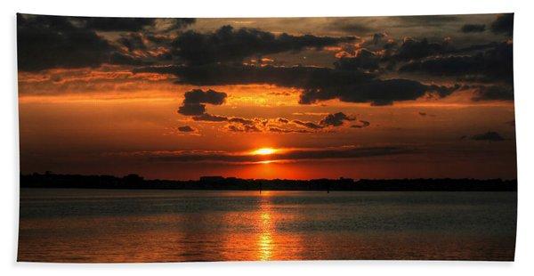Amber Sunset Beach Towel