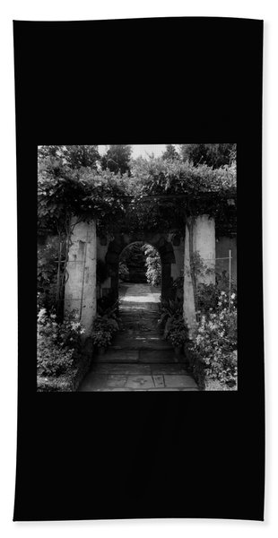An Archway In The Garden Of Mrs. Carl Tucker Beach Towel