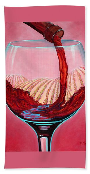 ...and Let There Be Wine Beach Towel