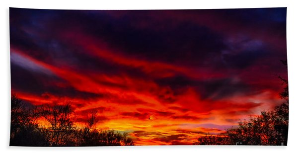 Another Tucson Sunset Beach Towel