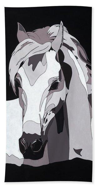 Arabian Horse With Hidden Picture Beach Towel