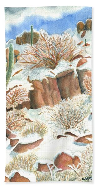Arizona The Christmas Card Beach Sheet