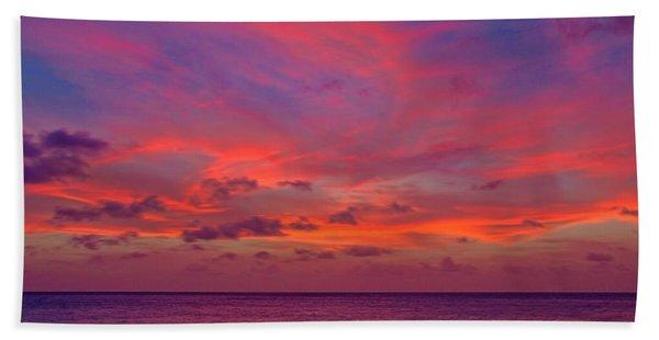 Beach Towel featuring the photograph Aruba Sunset by Jemmy Archer
