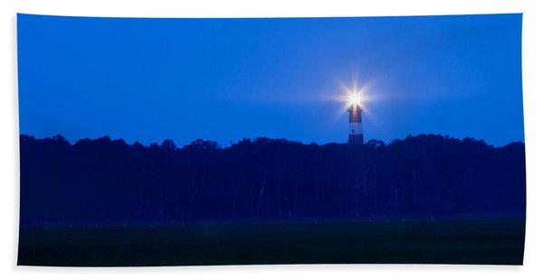 Assateague Lighthouse At Dawn Beach Towel