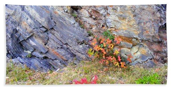 Autumn And Rocks Beach Sheet