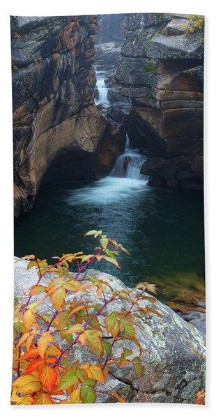 Autumn At The Grotto Beach Sheet