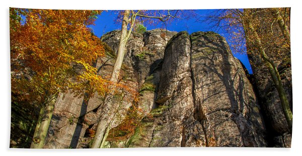 Autumn Colors In The Saxon Switzerland Beach Towel